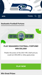 Seattle Seahawks – Football Fortune Sweepstakes