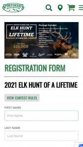 Sportsman's Warehouse – 2021 Elk Hunt Of A Lifetime Sweepstakes