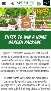 Sprouts Farmers Markets – Take Good Care Pledge Giveaway Sweepstakes