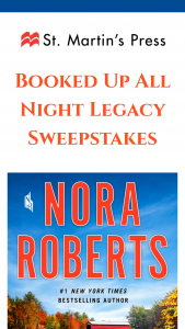 St Martin's Press – Booked Up All Night Legacy – Win a(n) One (1) ARC of LEGACY by Nora Roberts