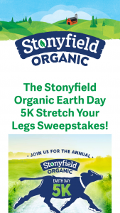 Stonyfield – Stretch Your Legs Sweepstakes