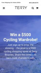 Terry Bicycles – $500 Cycling Wardrobe Sweepstakes