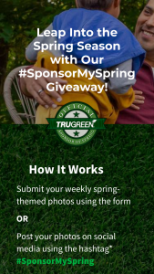 Trugreen – #sponsormyspring Giveaway – Win 1 baseball set (valued at $80).