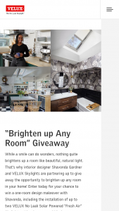 Velux – Brighten Up Any Room Giveaway Contest – Homeowners Sweepstakes