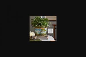 Veranda – Bob Christian Cache Pot – Win one (1) Bob Christian Cache Pot Plates ARV per set $580.
