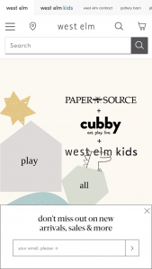 West ELM – Play All Day – Win a prize package that consists of one (1) Paper Source Kids Creativity Prize Pack