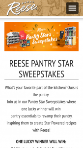 World Finer Foods – Reese Pantry Star 2021 Sweepstakes