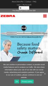 Zebra Pen – Food Safety Magazine Free Pen Sweepstakes