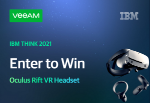Veeam – IBM Think 2021 – Win 1 of 3 prizes