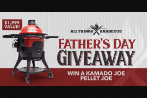 All Things Barbecue – Father's Day Giveaway – Win Pellet Joe 18″ Pellet Fired Ceramic Grill