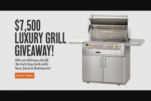 Bbqguys – $7500 Luxury Gas Grill Giveaway Sweepstakes