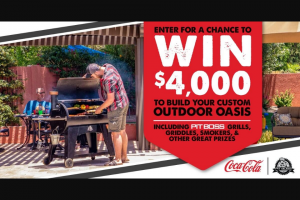 Coca-Cola – Pit Boss $4000 Outdoor Oasis Giveaway Sweepstakes