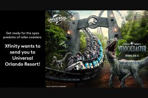 Comcast Xfinity – Universal Orlando Resort Adventure – Win a four day
