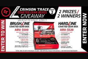 Crimson Trace – Coveted Gear Box Giveaway Part 2 Sweepstakes