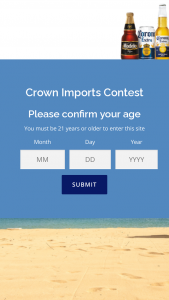 Crown Imports – Corona Beach – Win gift card (terms and conditions on gift card apply).
