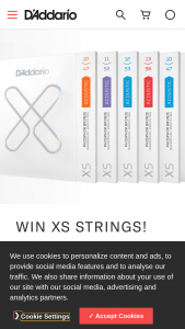 D'addario – Xs Giveaway – Win a set of XS Strings of their choosing ARV up to $50 USD