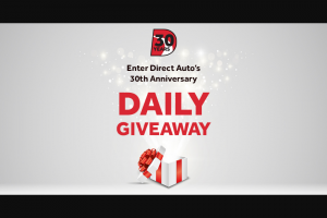 Direct Auto Insurance – 30th Anniversary & Customer Appreciation Giveaway Sweepstakes