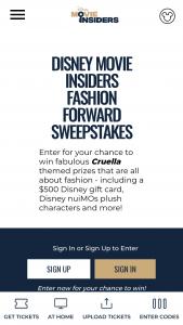 Disney Movie Insiders – Fashion Forward – Win a $500 Disney Gift Card
