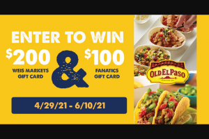 General Mills And Weis Markets – Mexican Fiesta Giveaway Sweepstakes