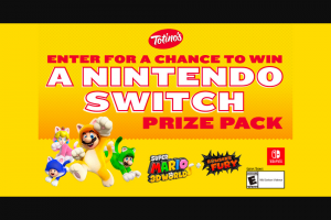 General Mills Totino's – Nintendo Switch – Win one Nintendo Switch prize pack consisting of one Nintendo Switch system