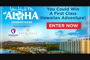 Hallmark Channel – You Had Me At Aloha Sweepstakes