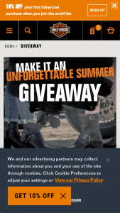Harley-Davidson Footwear – 2021 Make It An Unforgettable Summer Giveaway – Win (1) pair of boots or shoes from Harley-davidsonfootwearcom