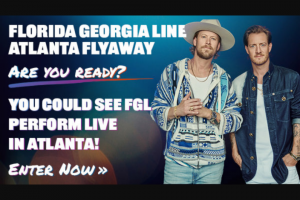 Iheart – Bobby Bones Georgia Line Atlanta Flyaway – Win a three day/two night trip for Winner and (1) guest to Atlanta