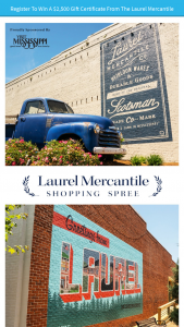 Iheart – Laurel Mercantile Shopping Spree – Win Laurel Mercantile Gift Card ARV $2500