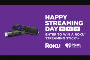 Iheart – Roku Streaming Stick – Win one Roku Streaming Stick