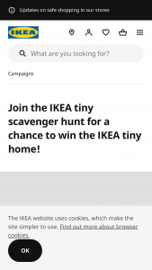 "Ikea – Tiny Scavenger Hunt Contest – Instagram – Win the ""IKEA tiny home"" (ARV $75000) and (ii) $20000 in cash to cover estimated taxes"