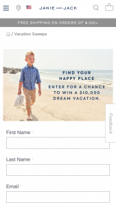Janie And Jack – Summer Family Vacation Sweepstakes