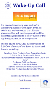Katie Couric Media – Hello Summer Giveaway Sweepstakes