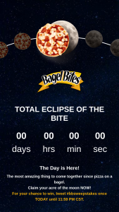 Kraft Heinz Foods – Total Eclipse Of The Bite Sweepstakes