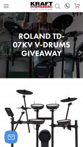 Kraft Music – Roland Td-07kv V-Drums Giveaway Sweepstakes