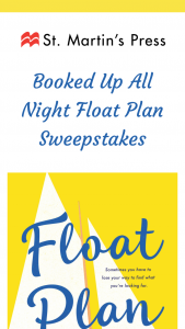 Macmillan – Booked Up All Night Float Plan – Win a(n) One (1) finished copy of FLOAT PLAN by Trish Doller