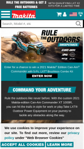 Makita – Rule The Outdoors – Win Place Prizes and (10) Second-Place Prizes will be awarded
