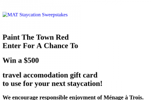 Ménage à Trois Winery – Paint The Town Red Sweepstakes