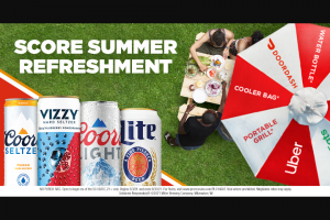 Molson Coors – Refresh Your Summer Instant Win Game Sweepstakes