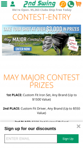 2nd Swing Golf – May Major – Win a $25 2nd Swing eGift Card