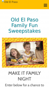 Old El Paso – Family Fun – Win a family fun pack that includes one puzzle