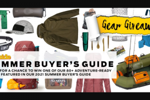 Outside Magazine – 2021 Summer Buyer's Guide Gear Giveaway – Win 4 pairs of Running Shoes 3 $640.00 Total ARV of all prizes $13081.90.