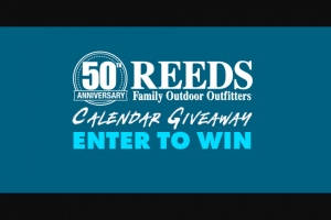 Reeds Family Outdoor Outfitters – 50th Anniversary Calendar Giveaway – Win Drawing) – A Camp Chef Smoker/Grill 24 XT