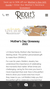 Riddle's Jewelry – Mother's Day Giveaway 2021 Sweepstakes
