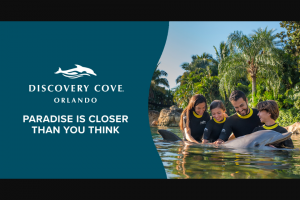 Sea World – Escape To Discovery Cove Contest – Social Media – Win a day resort package) a cabana at Discovery Cove