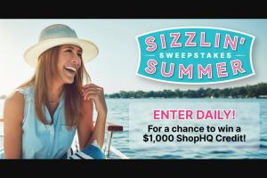 Shophq – Sizzlin' Summer – Win $1000 ShopHQ Credit each