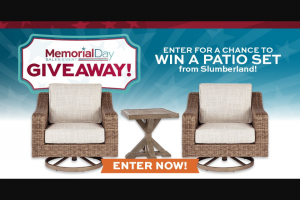 Slumberland Furniture – Memorial Day Patio Giveaway – Win one Beachcroft Square End Table and two Beachcroft Swivel Lounge Chairs from Slumberland
