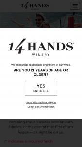 "Ste Michelle Wine Estates – 14 Hands Cash In Your Wild – Win a $100 prepaid card (the ""Prize(s)"")."
