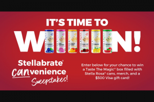 Stella Rosa – Stellabrate Canvenience Sweepstakes