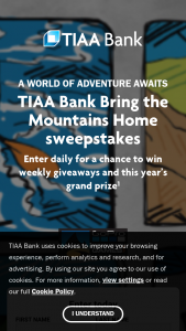Tiaa Bank – Bring The Mountains Home – Win one GoPro HERO9 Black camera