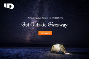 Travel Channel – Get Outside Giveaway – Win $10000 presented in the form of a check